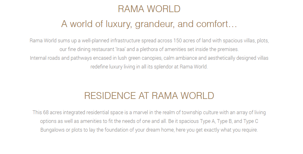 RAMA WORLD Bilaspur